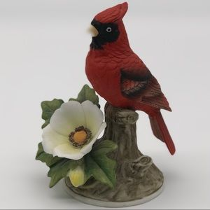 Cardinal by Andrea by Sadek Porcelain Figurine Red
